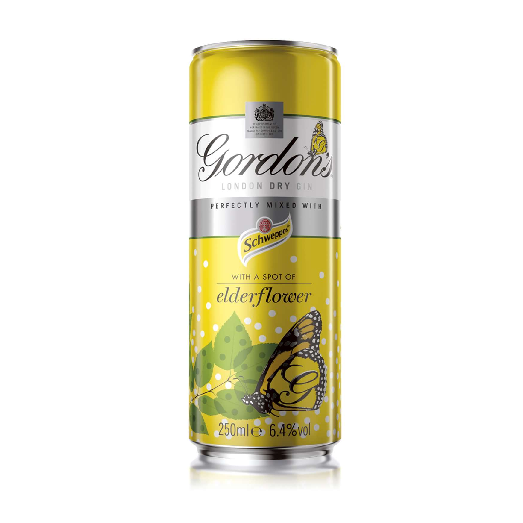 Gordons & Elderflower Cans 12 x 250ml