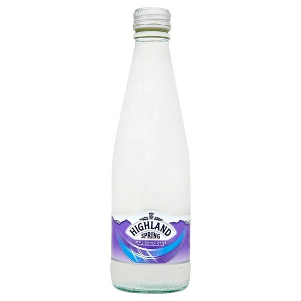 Highland Spring Still Water Glass 330ml