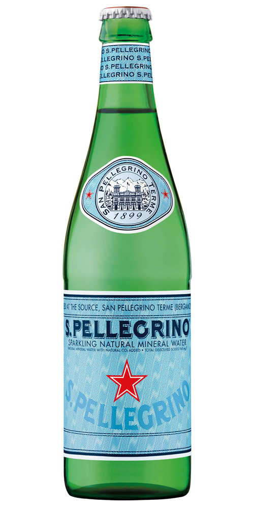 San Pellegrino Sparkling Mineral Water Glass 500ml