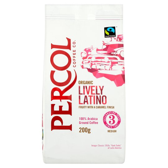 Percol Organic Latino Ground Coffee 2 x 200gm