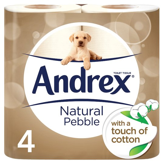 Andrex Toilet Rolls Natural Pebble 6 x 4pk