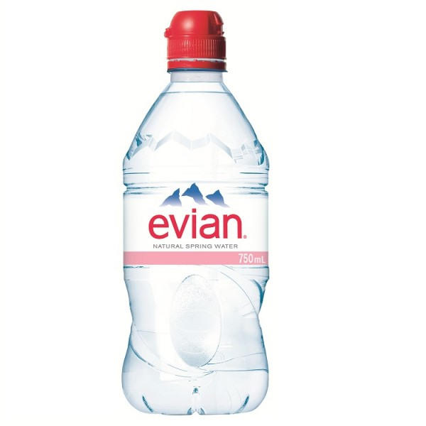 Evian Mineral Water Sports Cap 750ml