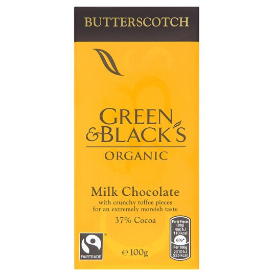 Green & Blacks Milk Chocolate with Butterscotch