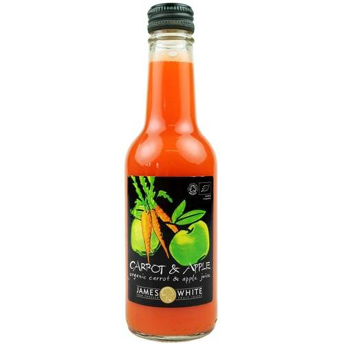 James White Organic Carrot and Apple Juice 25cl