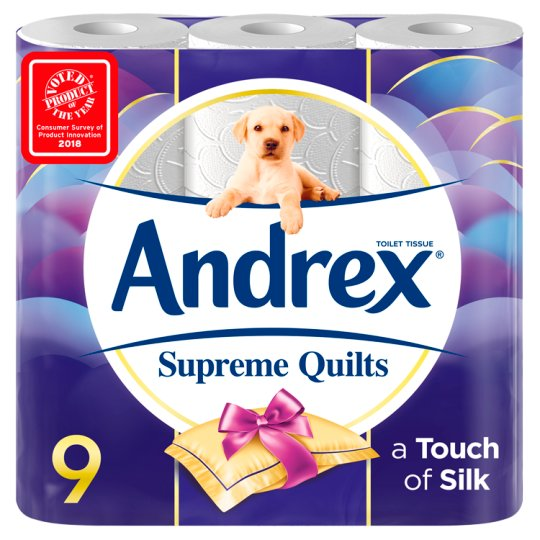 Andrex Quilted White Toilet Rolls 9pk