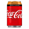 Coca Cola Zero Cans Peach 330ml